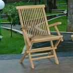Lot de 2 fauteuils pliants en teck java