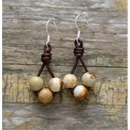 Boucle d'oreille en perles de jaspe