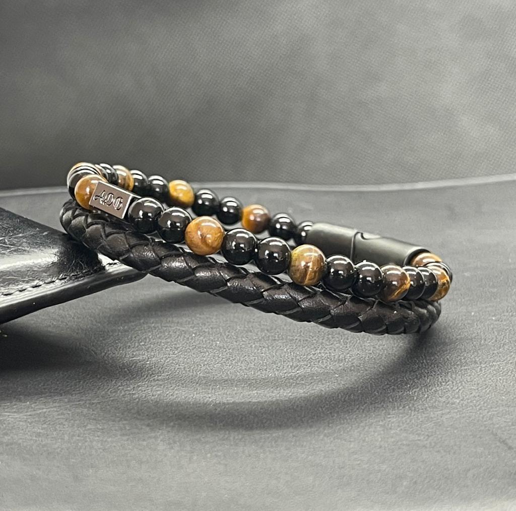oeil de tigre bracelet homme