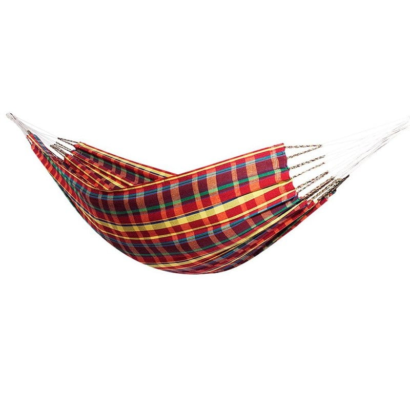 Hamac double madras rouge