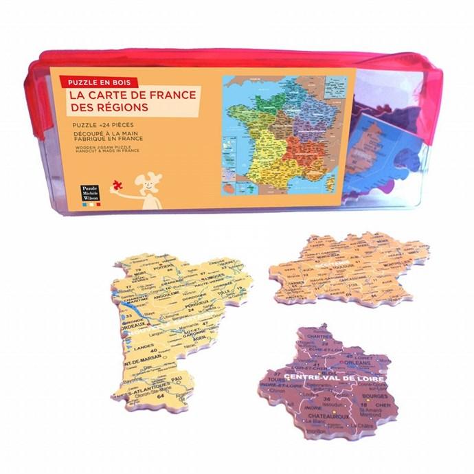 sciences montessori Puzzle bois constitution globe planète Terre 24*24 cm