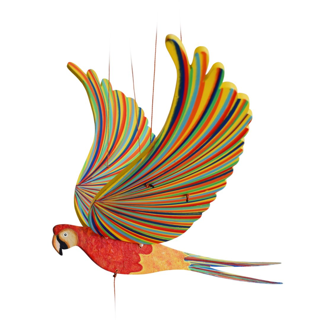 Ara Jaune Et Rouge Mobile Oiseau Nature Decouvertes