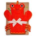 Gant de bain 'marionnette' crabe