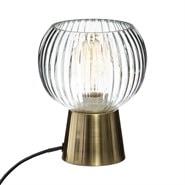 Lampe en verre laye h19.5