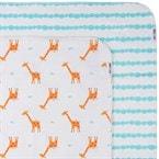 Couvertures flanelle (set de 2) - girafe