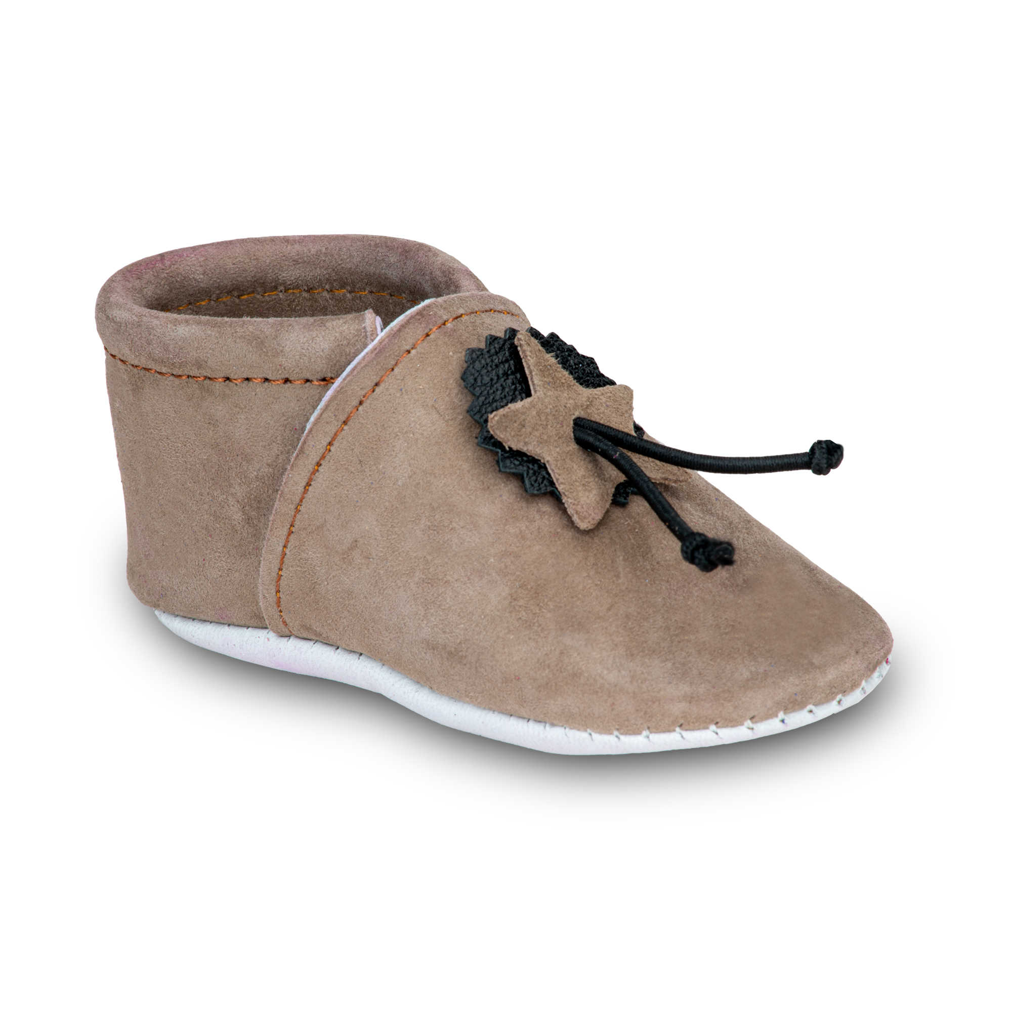 Chaussons Souples Bebe Beige Taille 22