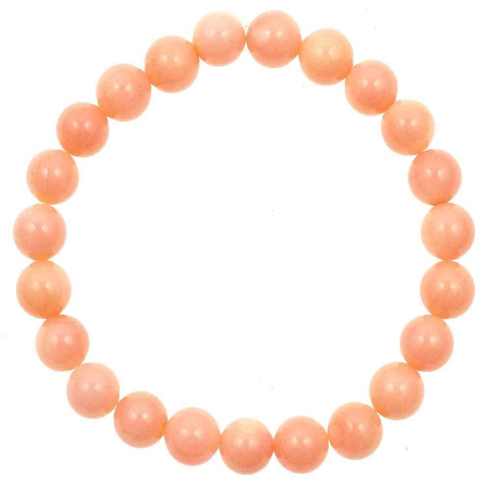 Rose corail et d/'eau douce Perle Stretch-to-fit Bracelet BRL360009