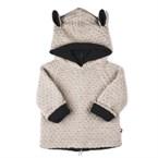 Veste à capuche 'petit mouton' en alpaga