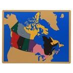 Carte puzzle du canada haut de gamme