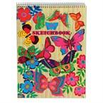 Cahier à dessin- papillons fluo