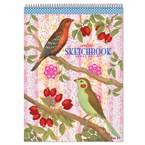 Cahier à dessin- oiseaux et baies