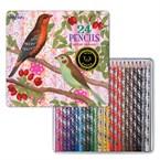 Boite fer 24 crayons de couleur-