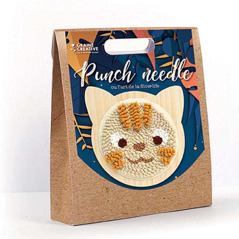 Coffret punch needle - chat ø 15 cm