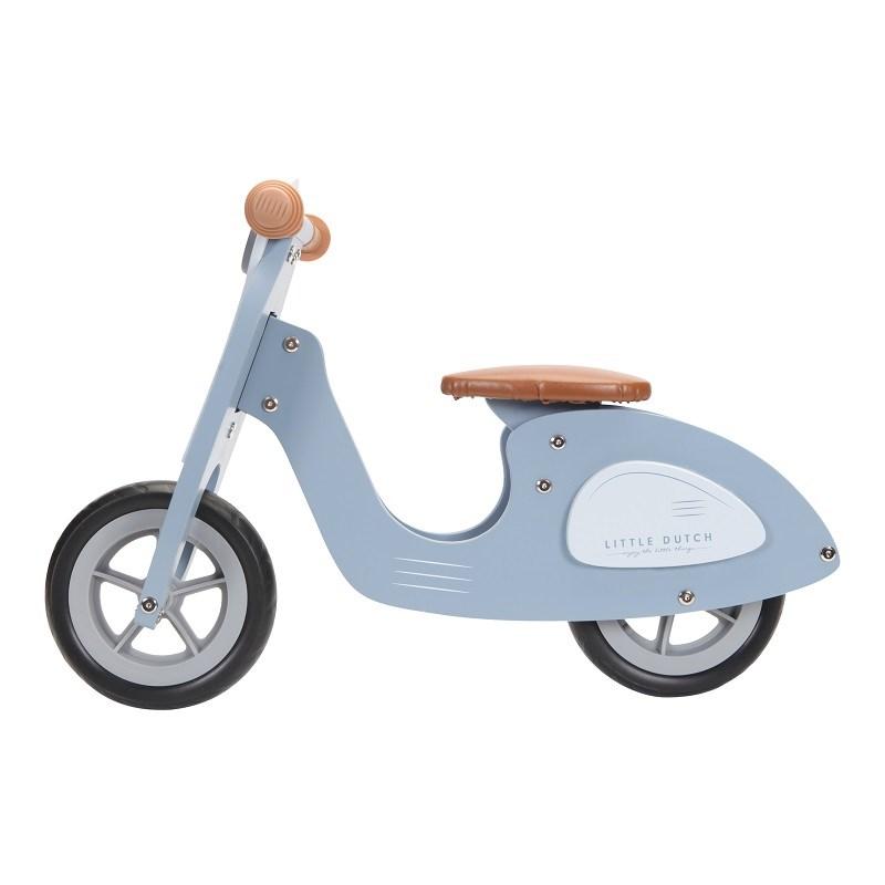 Draisienne scooter en bois - bleu